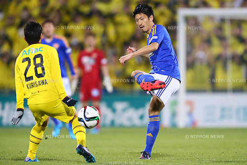 Hirofumi Watanabe (Vegalta),<br /> MARCH 13, 2015 - Football / Soccer : <br /> 2015 J1 League 1st stage match between<br /> Kashiwa Reysol 1-1 Vegalta Sendai<br /> at Hitachi Kashiwa Stadium in Chiba, Japan.<br /> (Photo by Shingo Ito/AFLO SPORT)