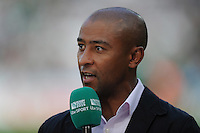 George Gregan commentates for ITV during Match 28 of the Rugby World Cup 2015 between Ireland and Italy - 04/10/2015 - Queen Elizabeth Olympic Park, London<br /> Mandatory Credit: Rob Munro/Stewart Communications