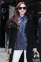 NEW YORK, NY - January 07: Lindsay Lohan seen at Good Morning America to promote her new reality show Lindsay Lohan's Beach Club on January 07, 2019 in New York City.  <br /> CAP/MPI/RW<br /> ©RW/MPI/Capital Pictures