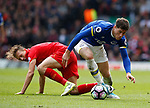 Ross Barkley of Everton wins the ball from Lucas Leiva of Liverpool during the English Premier League match at Anfield Stadium, Liverpool. Picture date: April 1st 2017. Pic credit should read: Simon Bellis/Sportimage