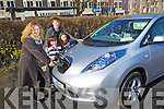 Paula Luck owner of the first electric car in Europe with her Children Benjamin, Millie and Harry at the charging station in the Brandon Car park, Tralee..