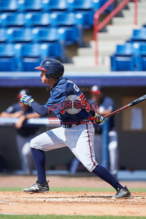 Atlanta Braves Derian Cruz (55) during an Instructional League game against the Washington Nationals on September 30, 2016 at Space Coast Stadium in Melbourne, Florida.  (Mike Janes/Four Seam Images)