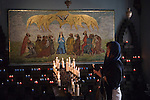 The church of Rome Roman Catholic  Holy Ghost Chapel, at the Slipper Chapel, near Little Walsingham. The Walsingham Pilgrimage.  North Norfolk, England 2006.