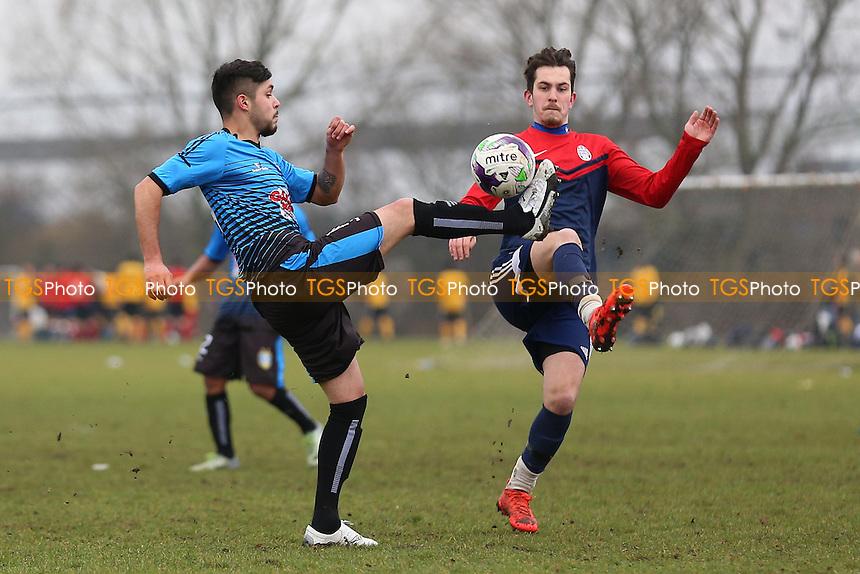 Shakespeare (red/blue) vs Brazilian Boys, Hackney & Leyton Sunday League Albert Daniels Senior Cup Semi-Final Football at Hackney Marshes on 5th February 2017