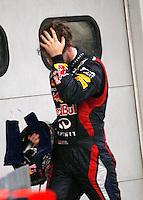 SEPANG, MALASIA, 25 DE MARCO 2012 - F1 - GP MALASIA - <br /> O piloto alemao Sebastian Vetel da equipe Red Bull e o Espanhol Fernando Alonso da equipe Ferrari, durante o GP da Malásia, no circuito de Kuala Lumpur, em Sepang, neste domingo, 26. (FOTO: THOMAZ MELZER / PIXATHLON /  BRAZIL PHOTO PRESS).