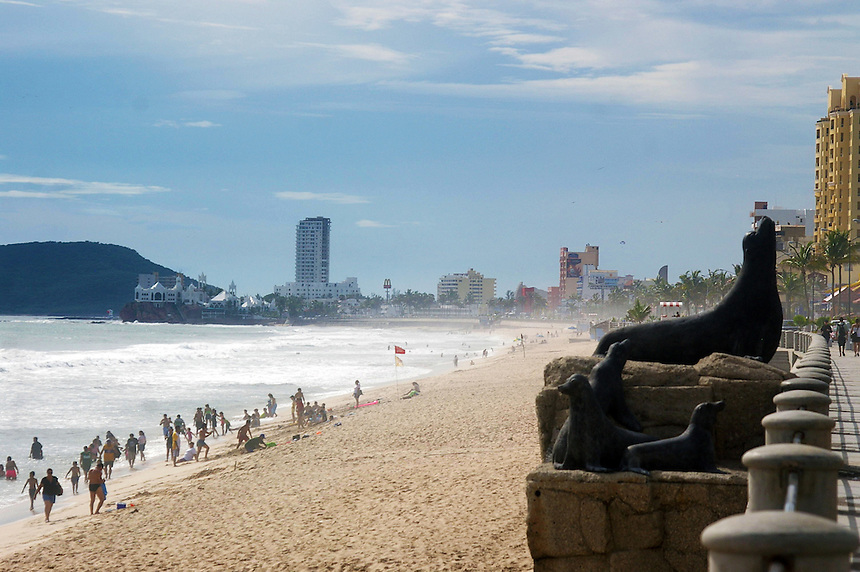 Beach at Mazatlan, Mexico