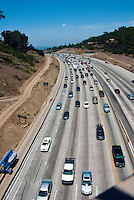 Sepulveda pass, From Mulholland Dr Bridge, I-405, Freeway, Widening Project