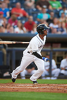 Akron RubberDucks shortstop Ivan Castillo (1) at bat during a game against the Richmond Flying Squirrels on July 26, 2016 at Canal Park in Akron, Ohio .  Richmond defeated Akron 10-4.  (Mike Janes/Four Seam Images)
