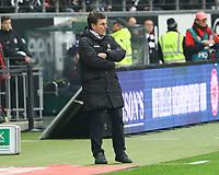 Trainer Dieter Hecking (Borussia Mönchengladbach) angefressen - 26.01.2018: Eintracht Frankfurt vs. Borussia Moenchengladbach, Commerzbank Arena