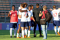 Tammy Abraham of England U21's hugs Kieran Dowell at the final whistle to celebrate winning the 2018 Tournament during Mexico Under-21 vs England Under-21, Tournoi Maurice Revello Final Football at Stade Francis Turcan on 9th June 2018