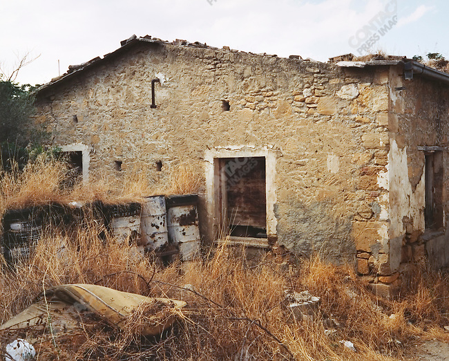 Abandoned Home on Green Line, Nicosia, Greek Cyprus, July 2004