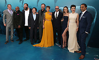 HOLLYWOOD, CA - August 6: Jon Turteltaub, Page Kennedy, Olafur Darri Olafsson, Masi Oka, Rainn Wilson, Ruby Rose, Jason Statham, Jessica McNamee, Li Bingbing, Cliff Curtis, at Warner Bros. Pictures And Gravity Pictures' Premiere Of &quot;The Meg&quot; at TCL Chinese Theatre IMAX in Hollywood, California on August 6, 2018. <br /> CAP/MPI/FS<br /> &copy;FS/MPI/Capital Pictures