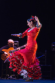 "Belén Maya dancing. ""Trasmín"" performed by the Belén Maya Company during the Flamenco Festival London 2014 at Sadler's Wells Theatre."