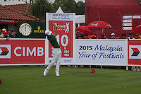 Kevin Na (USA) on the 10th tee during Round 3 of the CIMB Classic in the Kuala Lumpur Golf & Country Club on Saturday 1st November 2014.<br /> Picture:  Thos Caffrey / www.golffile.ie