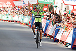Mikel Iturria Segurola (ESP) Euskadi-Murias wins Stage 11 of La Vuelta 2019 running 180km from Saint Palais, France to Urdax-Dantxarinea, Spain. 4th September 2019.<br /> Picture: Luis Angel Gomez/Photogomezsport | Cyclefile<br /> <br /> All photos usage must carry mandatory copyright credit (© Cyclefile | Luis Angel Gomez/Photogomezsport)