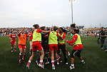 27 August 2011: Western New York players celebrate after the game. Western New York Flash defeated the Philadelphia Independence 5-4 on penalty kicks to win the final after the game ended in a 1-1 tie after overtime at Sahlen's Stadium in Rochester, New York in the Women's Professional Soccer championship game.