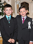 Caolán Nulty and Luke Flood from Congress Avenue school who received first holy communion in St Mary's church. Photo: Colin Bell/pressphotos.ie