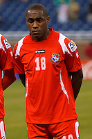 Panama forward Lluis Tejada (18) before the CONCACAF soccer match between Panama and Guadeloupe at Ford Field Detroit, Michigan.