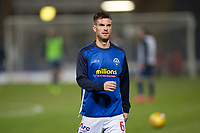 1st November 2019; Dens Park, Dundee, Scotland; Scottish Championship Football, Dundee Football Club versus Greenock Morton; Kyle Jacobs of Greenock Morton during the warm up before the match  - Editorial Use