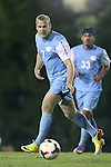 08 October 2013: North Carolina's Josh Rice. The University of North Carolina Tar Heels hosted the Clemson University Tigers at Fetzer Field in Chapel Hill, NC in a 2013 NCAA Division I Men's Soccer match. Clemson won the game 2-1 in overtime.