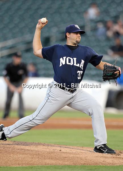 Elih Villanueva - New Orleans Zephyrs - 2011 Pacific Coast League.Photo by Bill Mitchell