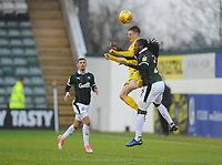 Fleetwood Town's Ashley Hunter vies for possession with Plymouth Argyle's Tafari Moore<br /> <br /> Photographer Kevin Barnes/CameraSport<br /> <br /> The EFL Sky Bet League One - Plymouth Argyle v Fleetwood Town - Saturday 24th November 2018 - Home Park - Plymouth<br /> <br /> World Copyright © 2018 CameraSport. All rights reserved. 43 Linden Ave. Countesthorpe. Leicester. England. LE8 5PG - Tel: +44 (0) 116 277 4147 - admin@camerasport.com - www.camerasport.com
