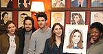 Katharine McPhee, Ben Thompson, Drew Gehling, Sara Bareilles and NaTasha Yvette Williams attend the Sardi's Portrait unveiling for Sara Bareilles  at Sardi's Restaurant on April 3, 2018 in New York City.
