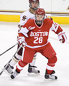 Kelli Stack (BC - 16), Louise Warren (BU - 28) - The visiting Boston University Terriers defeated the Boston College Eagles 1-0 on Sunday, November 21, 2010, at Conte Forum in Chestnut Hill, Massachusetts.