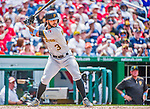 21 June 2015: Pittsburgh Pirates infielder Sean Rodriguez in action against the Washington Nationals at Nationals Park in Washington, DC. The Nationals defeated the Pirates 9-2 to sweep their 3-game weekend series, and improve their record to 37-33. Mandatory Credit: Ed Wolfstein Photo *** RAW (NEF) Image File Available ***
