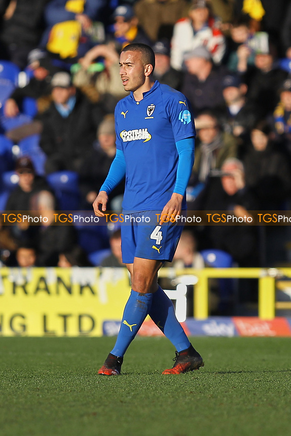 Rod McDonald of AFC Wimbledon during AFC Wimbledon vs Fleetwood Town, Sky Bet EFL League 1 Football at the Cherry Red Records Stadium on 8th February 2020