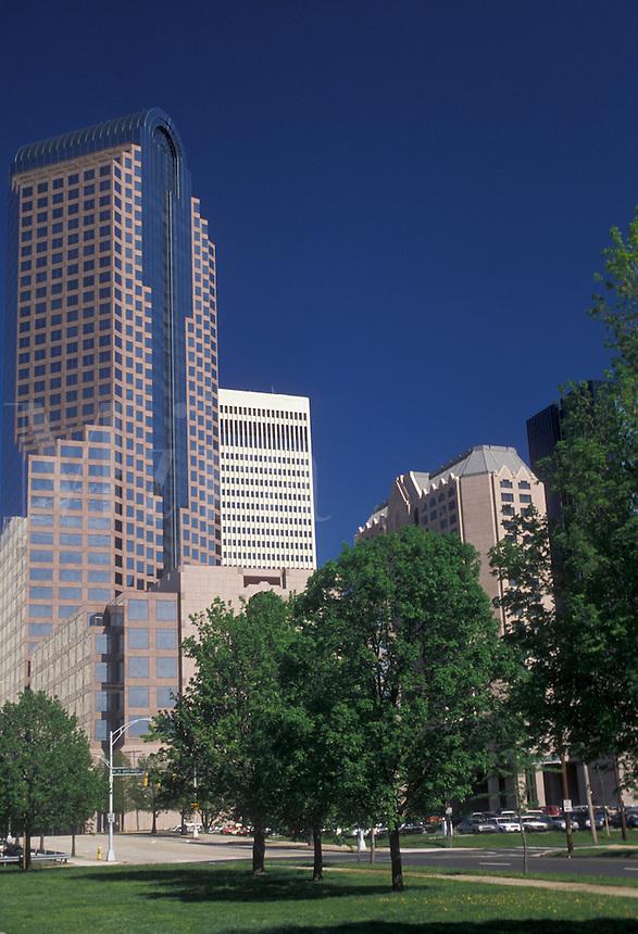AJ2638, Charlotte, North Carolina, Skyline of downtown Charlotte in the state of North Carolina.
