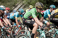 Green Jersey Wout van Aert (BEL/Jumbo - Visma) snacking on his last gel before the final climb of the day<br /> <br /> Stage 6: Saint-Vulbas to Saint-Michel-de-Maurienne (228km)<br /> 71st Critérium du Dauphiné 2019 (2.UWT)<br /> <br /> ©kramon