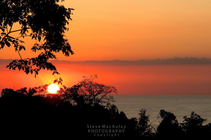 Sunset at Manuel Antonio National Park