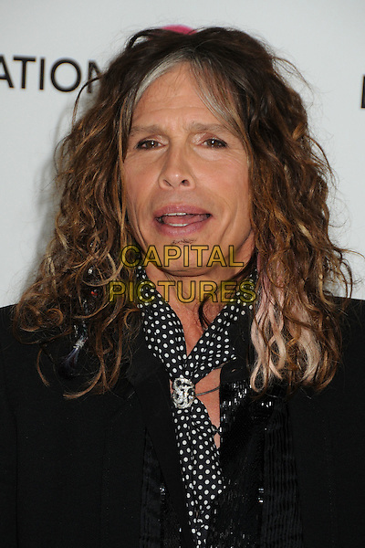 Steven Tyler.20th Annual Elton John Academy Awards Viewing Party held at West Hollywood Park, West Hollywood, California, USA..February 26th, 2012.oscars headshot portrait black polka dot white scarf mouth open .CAP/ADM/BP.©Byron Purvis/AdMedia/Capital Pictures.