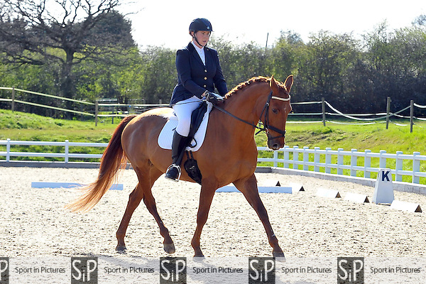 Class 5. Novice 24. Brook Farm Summer Championships Qualifier,  Brook Farm points league and Trailblazers 1st round dressage. Brook Farm Training Centre. Essex. 11/04/2015. MANDATORY Credit Ellie Ingram/Sportinpictures - NO UNAUTHORISED USE - 07837 394578