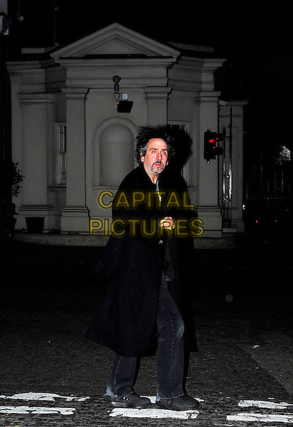 TIM BURTON.Spotted in Mayfair, London, UK..December 5th 2006.full length black coat.CAP/CAN.©Can Nguyen/Capital Pictures
