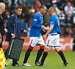 Kris Boyd comes on as a late sub for Kenny Miller