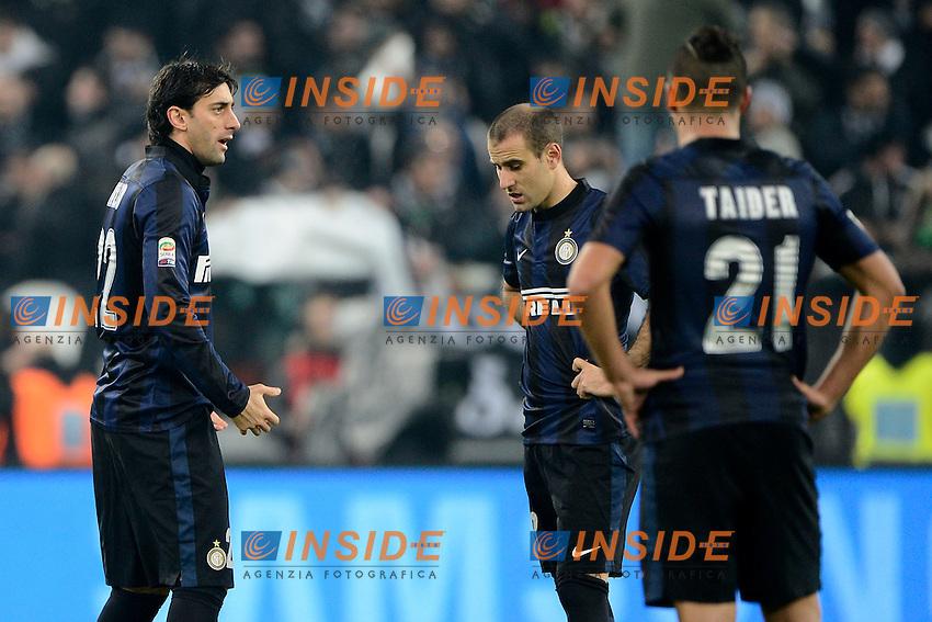 Diego Milito, Rodrigo Palacio Inter<br /> Torino 02-02-2014 Juventus Stadium - Football 2013/2014 Serie A. Juventus - Inter Foto Giuseppe Celeste / Insidefoto