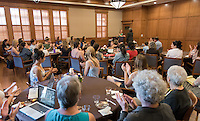 "Mental health legal expert and best-selling author Elyn R. Saks speaks on ""My Journey Through Madness: The Role of Treatment, Family and Friends, and Work in One Woman's Recovery"" as part of the 2015 Occidental Phi Beta Kappa Speakers Series Lecture in Dumke Hall on April 28, 2015. The Occidental Phi Beta Kappa Speakers Series Lecture is underwritten by the Ruenitz Trust Fund Endowment in honor of Dr. and Mrs. Robert C. Ruenitz. (Photo by Marc Campos, Occidental College Photographer)"