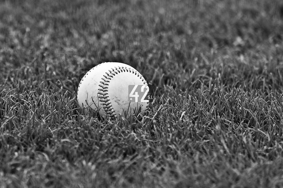 21 May 2009: A ball lays on the infield during the 2009 challenge de France, a tournament with the best French baseball teams - all eight elite league clubs - to determine a spot in the European Cup next year, at Montpellier, France.