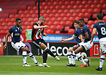 Samir Carruthers of Sheffield Utd tries to find away through the Millwall players during the U23 Professional Development League Two match at Bramall Lane Stadium, Sheffield. Picture date 18th August 2017. Picture credit should read: Simon Bellis/Sportimage