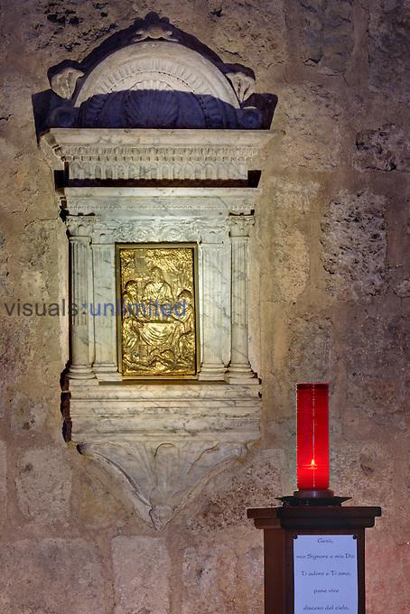Santa Maria Assunta Church, Monteriggioni, Tuscany, Italy.