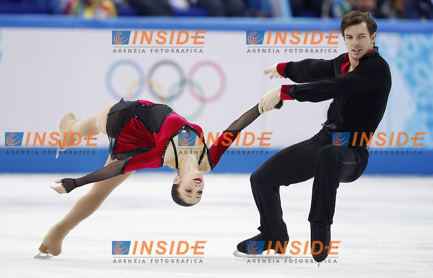 Sochi Feb 8 2014 Stefania Berton l and Ondrej Hotarek of Italy Perform during The team Pairs Free Program of Figure Skating Event AT The Sochi 2014 Winter Olympic Games in Sochi Russia Feb 8 2014 <br /> Sochi Figure Skating team Pairs Free Skating<br /> Foto Insidefoto