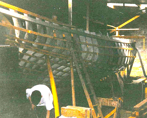 A traditional boat takes shape in the heart of Clondalkin – Naomh Cronan in frame in 1995
