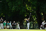 30 MAY 2016: Charles Kim of Arkansas competes in the Division I Men's Golf Championship is held at the Eugene Country Club in Eugene, OR. Kim tied for 40th place with a score of +9. Stephen Nowland/NCAA Photos