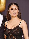 HOLLYWOOD, CA - FEBRUARY 26: Actress Salma Hayek poses in the press room during the 89th Annual Academy Awards at Hollywood & Highland Center on February 26, 2017 in Hollywood, California.