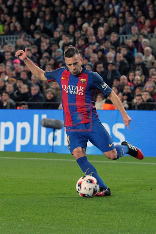 Copa del Rey 2016/2017 - 1/8 final vuelta.<br /> FC Barcelona vs Athletic Club: 3-1.<br /> Jordi Alba.