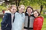 Emily and Amy Hyland, Robyn and Lucy Gill at the Arts Festival in Dominics park.Pic Fran Caffrey/Newsfile.ie