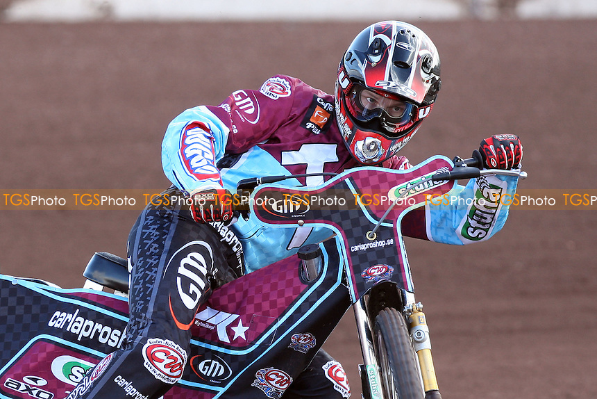 Joonas Kylmakorpi rides for Lakeside Hammers during pre-season speedway practice at Arena Essex Raceway - 10/03/09 - MANDATORY CREDIT: Gavin Ellis/TGSPHOTO - Self billing applies where appropriate - 0845 094 6026 - contact@tgsphoto.co.uk - NO UNPAID USE.