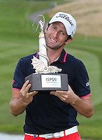 Gregory Bourdy (FRA) wins the 2013 ISPS Handa Wales Open from the Celtic Manor Resort, Newport, Wales. Picture:  David Lloyd / www.golffile.ie